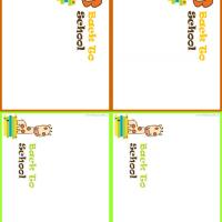Lion and Giraffe Name Tags