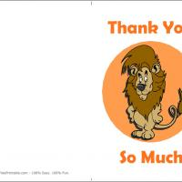 Printable Lion Thank You Card - Printable Thank You Cards - Free Printable Cards