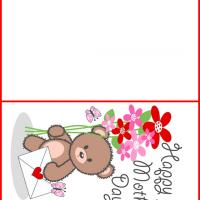 Printable Little Bear's Mother's Day Card - Printable Mothers Day Cards - Free Printable Cards