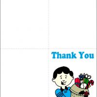 Printable Little Boy Thank You Card - Printable Thank You Cards - Free Printable Cards