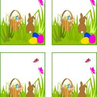 Little Bunny Easter Gift Cards