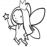 Printable Little Fairy Princess - Printable Princess - Free Printable Coloring Pages