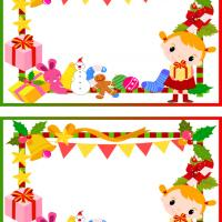 Printable Little Girl's Christmas Frame - Printable Scrapbook - Free Printable Crafts
