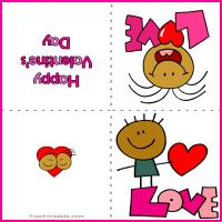 Printable Little Girl's Love Card - Printable Valentines - Free Printable Cards