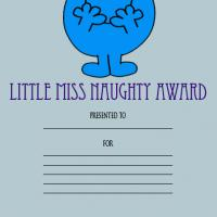 Printable Little Miss Naughty Award - Printable Awards - Misc Printables