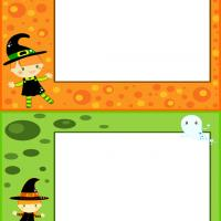 Printable Little Witch Postcards - Printable Greeting Cards - Free Printable Cards