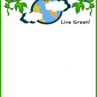 Printable Live Green Stationary - Printable Stationary - Free Printable Activities