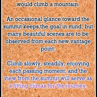Live Life Like Climbing a Mountain