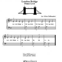 Printable London Bridge For Piano - Printable Piano Music - Free Printable Music
