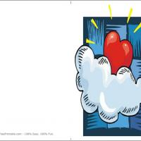 Printable Love In The Clouds - Printable Valentines - Free Printable Cards