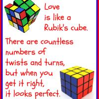 Printable Love is Like a Rubik's Cube - Printable Motivational Quotes - Free Printable Quotes