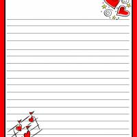 Printable Love Notes Stationary - Printable Stationary - Free Printable Activities