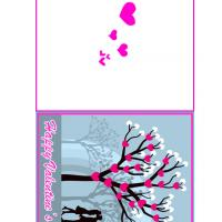 Printable Lovers Under Valentine Tree - Printable Valentines - Free Printable Cards