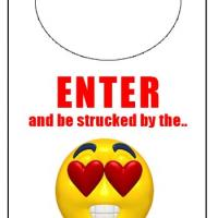 Printable Lovestruck Mood Door Knob Hanger - Printable Fun - Free Printable Activities