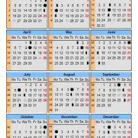 Lunar Calendar 2009