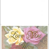 Printable Luv U Mom Card - Printable Mothers Day Cards - Free Printable Cards