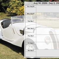 Luxury Car Weekly Planner Aug 30 to Sep 5 2009