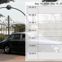 Printable Luxury Car Weekly Planner Sep 13 to Sep 19 2009 - Printable Weekly Calendar - Free Printable Calendars