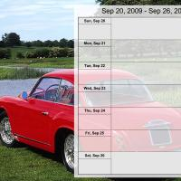 Luxury Car Weekly Planner Sep 20 to Sep 26 2009