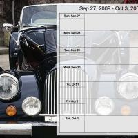 Printable Luxury Car Weekly Planner Sep 27 to Oct 3 2009 - Printable Weekly Calendar - Free Printable Calendars