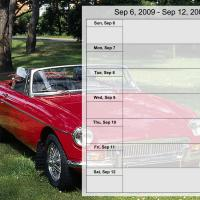 Printable Luxury Car Weekly Planner Sep 6 to Sep 12 2009 - Printable Weekly Calendar - Free Printable Calendars