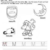 Printable M Beginning Consonant - Printable Preschool Worksheets - Free Printable Worksheets