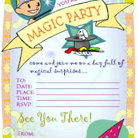 Printable Colored Magic Party Invitation - Printable Birthday Invitation Cards - Free Printable Invitations