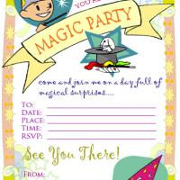 Printable Magic Party Invitation - Printable Birthday Invitation Cards - Free Printable Invitations
