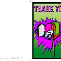 Mailbox Thank You Card