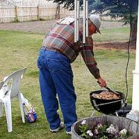 Man Doing Barbecue