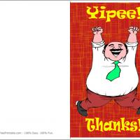 Printable Man Jumping In Happiness - Printable Thank You Cards - Free Printable Cards