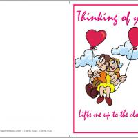 Printable Man On The Clouds - Printable Greeting Cards - Free Printable Cards