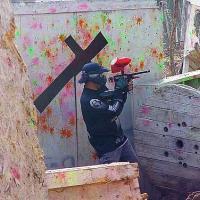 Man Playing Paintball