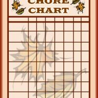 Printable Maple Leaf Chore Chart - Printable Chore Charts - Free Printable Activities