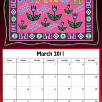 March 2011 Colorful Designed Calendar