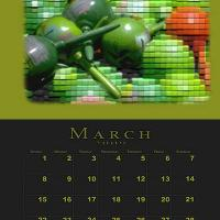 March Music Theme Calendar