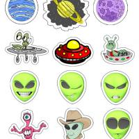 Martian Stickers