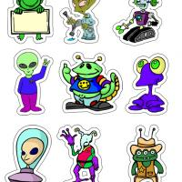 Printable Martian Sticker - Printable Stationary - Free Printable Activities