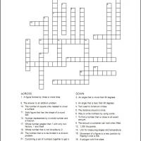 Math Words Crossword