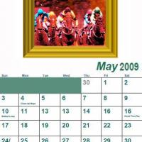 Printable May 2009 Oil Painting Calendar - Printable Monthly Calendars - Free Printable Calendars