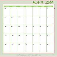Printable May 2009 Planner Calendar - Printable Monthly Calendars - Free Printable Calendars