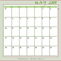 May 2009 Planner Calendar