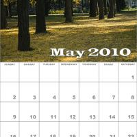 Printable May 2010 Nature Calendar - Printable Monthly Calendars - Free Printable Calendars