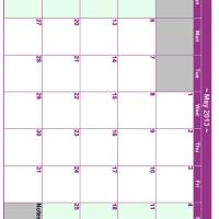 Printable May 2013 Planner Calendar - Printable Monthly Calendars - Free Printable Calendars