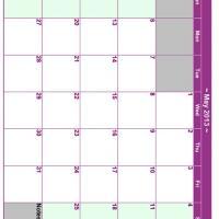 May 2013 Planner Calendar