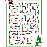 Printable Maze Of Lights - Printable Mazes - Free Printable Games