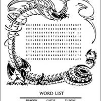 Printable Medieval Word Search - Printable Word Search - Free Printable Games