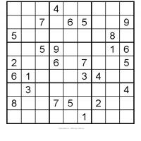 Free Sudoku Printable Puzzles on Printable Medium Sudoku 9   Freeprintable Com