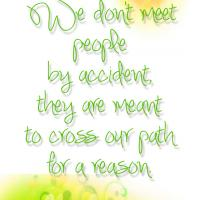 Meeting People for a Reason Quote