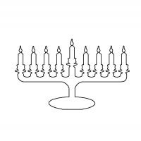 Menorah Stencil